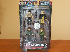 MiniMates Expendables 2 Action Figure 4-Pack Set-Church Trench Booker **SEALED**