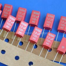 4pcs Wima 1uF 100V Mks-2 Metallized Polyester (Pet) Capacitor. 7.2x7.2x13mm