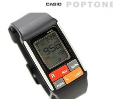 CASIO 50M WORLD TIME Kids Ladies Black Resin Poptone LCD Digital Watch LDF-50-1