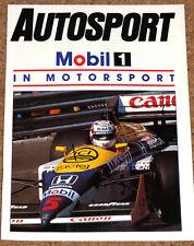 Autosport MOBIL 1 in MOTORSPORT 1987 - Williams Team, FF2000, Rallying, Racing