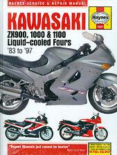 1983 84 85 86 87  90 91 92 93 94 95 96 97 KAWASAKI ZX900 1000 1100 SHOP MANUAL