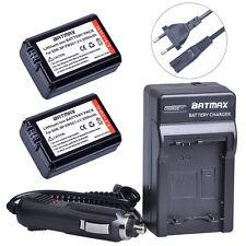 2000mAh 2Pcs NP FW50 Li-Ion Battery + Charger Kits for Sony A6000 A3000 A5000