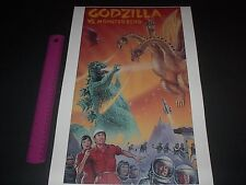 GODZILLA VS MONSTER ZERO CLASSIC MONSTER MOVIE POSTER PIN UP