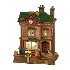 Monster Mash Party House Dept 56 Snow Village Halloween 6000659 animated manor A