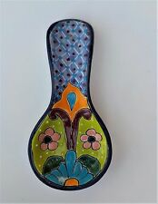 """MEXICAN POTTERY SPOON REST 10 1/4"""""""