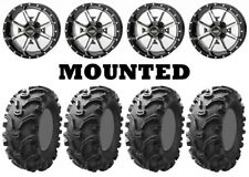 Kit 4 Kenda Bearclaw K299 Tires 25x8-12/25x10-12 on Frontline 556 Machined Fxt(Fits: More than one vehicle)