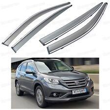 Front & Rear Side Window Visor Deflectors Vent Shade for Honda CR-V 2012-2014