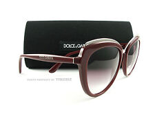 New Dolce & Gabbana Sunglasses DG4304 Red 3091/8H Authentic