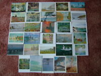 30 Unused CLAUDE MONET, ART Postcards.