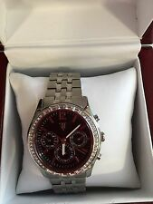 Timepieces by Randy Jackson Ladies' Stainless Steel Crystal Bezel Bracelet Watch