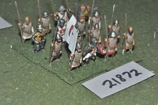 25mm medieval / english - spearmen 16 figs infantry - inf (21872)