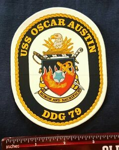 USS Oscar Austin DDG-79 Arleigh Burke-Class Destroyer Ship Crest STICKER DECAL