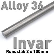 Invar 36 aproximadamente vara ⌀ 8 x 100mm metal 1.3912 aproximadamente, barra de calor aleación de extensión