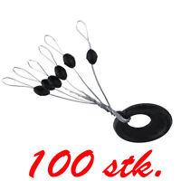 100P Schnurstopper Vorteilspack Gummistopper für Posen Angelzubehör Posenstopper