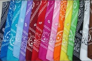 12x Bandanas (lot of 1 dozen)