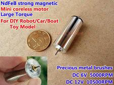 DC 6V~12V 10500RPM Large Torque NdFeB Magnetic Coreless Motor For Robot Car Boat