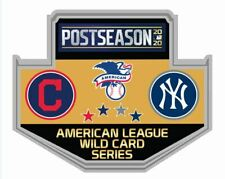 2020 WILD CARD DUELING PIN N.Y. YANKEES CLEVELAND INDIANS BASEBALL WORLD SERIES