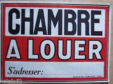 #) affiche ancienne ... CHAMBRE A LOUER