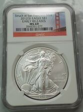 2012(S) Silver American Eagle NGC MS69 S$1 EARLY RELEASE US Coin NO MINTMARK WOW