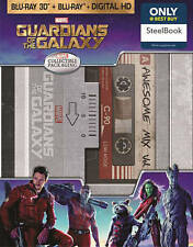Guardians of the Galaxy (Blu-ray/DVD/3D) Steelbook Best Buy NEW FREE SHIPPING