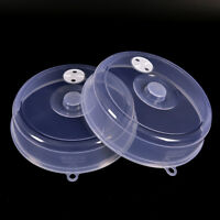 Clear Microwave Plate Cover Food Dish Lid Ventilated Steam Vent Kitchen JdH Jx