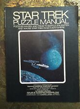 Star Trek Puzzle Manual Quiz For Trekkies Mazes Trivia W/ Answers To Questions!!