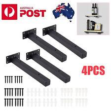 """4x 10"""" Industrial Shelf Bracket Heavy-duty Frame Wall Bedroom Kitchen Rack Iron"""