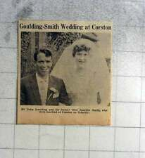 1961 John Goulding Marries Jennifer Smith At Corston