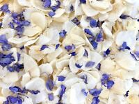 Lilac Delphinium Ivory Dried Biodegradable Wedding Confetti. Real Flower Petals