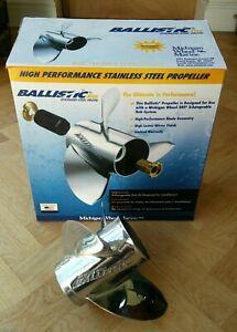 """Ballistic XHS 933215 Race Prop 10 1/8x15"""" Stainless Steel Zapcat Tohatsu Mercury"""