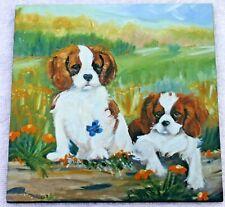 CAVALIER KING CHARLES SPANIEL DOG PLAQUE blenheim SANDRA COEN ARTIST NEW PRINT