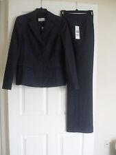 Le Suit Quebec New Womens Dark Plum Three-Button Jacket 2PC Pant Suit   8   $200