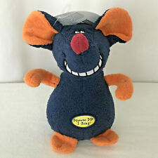 """Multipet Deedle Dudes Mouse that Sings 7"""" Dog Toy New"""