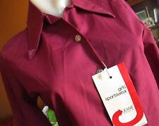 Xs/S New Nwt Jeanie Blue Bell Plum Purple Mod Collar True Vtg 70s Blouse Top Usa