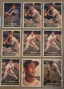 1957 Topps Baseball Cards Lot (54 Cards) #1
