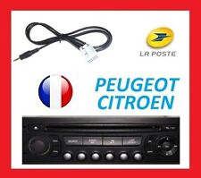 Cable auxiliaire adaptateur mp3 pour autoradio PEUGEOT 407 RD4 12pin iphone top