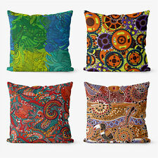 Abstract Mandala folk  4 Pieces Two Sides Printed Cushion Pillow Case Cover