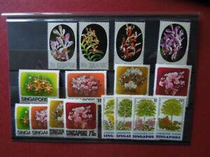 G2228  SINGAPORE   1976/79  FLOWERS/TREES   4   X SETS  MNH