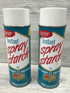 2 Vintage 23 Oz Cans K-Mart New Instant Spray Starch Advertising