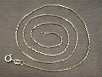 Zierliche 925 Sterling Silber Kette TSD Feine Venezianerkette Viereckig Designer