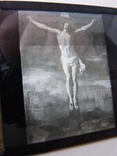 plaque de verre,dle christ en croix  ,maison de la bonne presse(82)