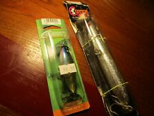 2 - Cordell lures on cards Pencil Popper, Crazy Shad Blue Herring
