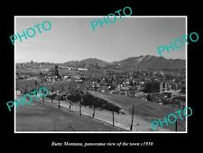 OLD POSTCARD SIZE PHOTO OF BUTTE MONTANA PANORAMA OF THE TOWN c1950 1