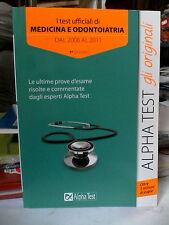 Test ufficiali di medicina e odontoiatria alphatest