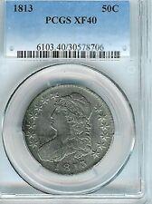 1813 Capped Bust Half Dollar : PCGS XF40