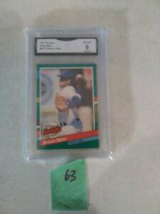 1991 Donruss Nolan Ryan #BC15 Bonus Cards GMA Graded 8 NM-MT
