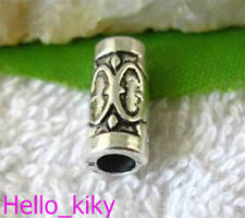 60pcs Tibetan Silver Crafted Tube Spacers Beads A843