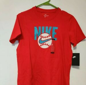 Nike Baseball T-Shirt Youth Large New With Tags Red NIKE Swoosh