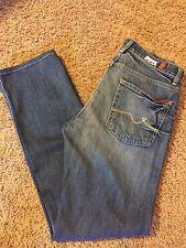 Women's VGUC 7 FOR ALL MANKIND Sz 29 Slimmy Medium Blue Mid Rise Slim Fit Jeans