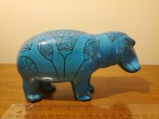 Metropolitan Museum of Art Mma William Blue Ceramic Hippo Hippopotamus